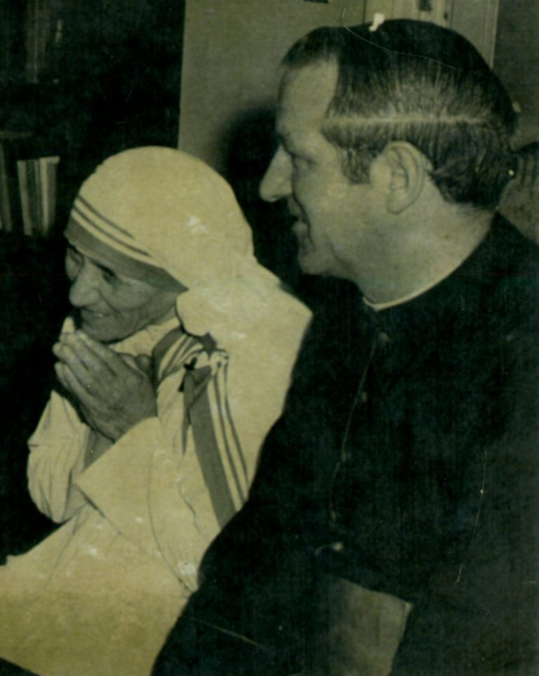 Monsignor Seymour with Mother Teresa of Calcutta, c. 1981