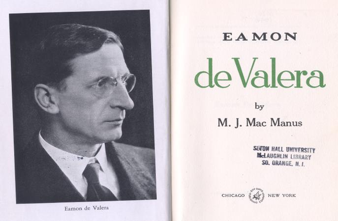 Title Page of Eamon de Valera Biography