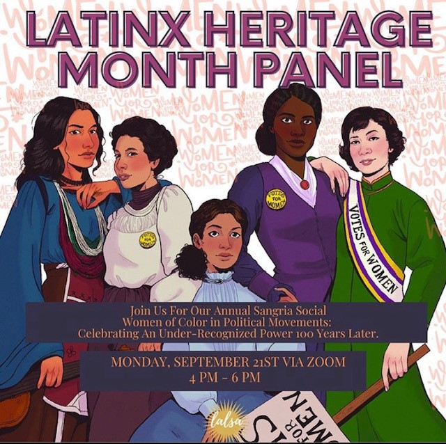 Latinx Law Students Commemorate Centennial of 19th Amendment with Heritage Month Panel Event