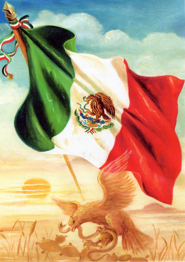 The Flag of Mexican Independence