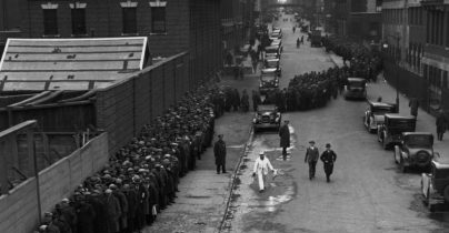 Breadlines in Depression-Era New York City -- History of New York City, From GoogleImages