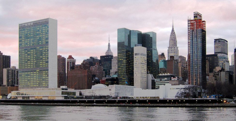 The U.N. Headquarters was constructed in New York in 1952