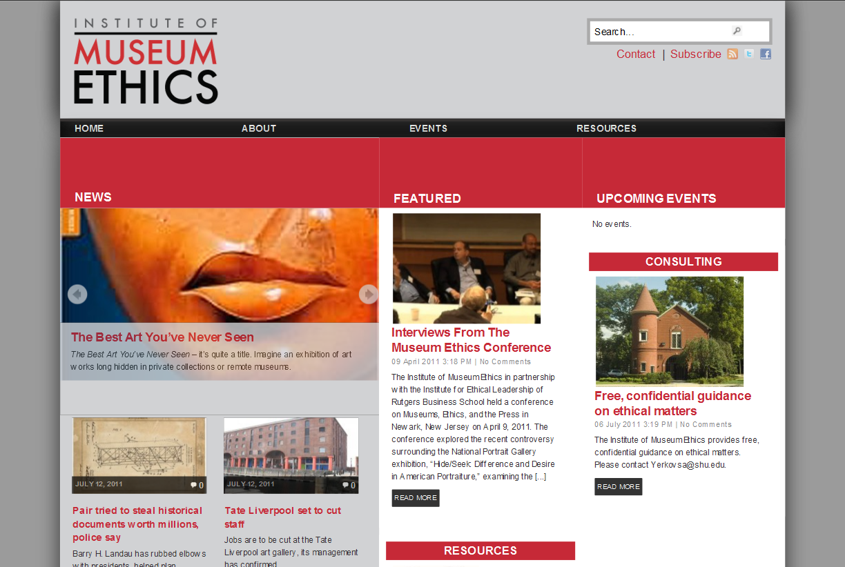 The Institute of Museum Ethics