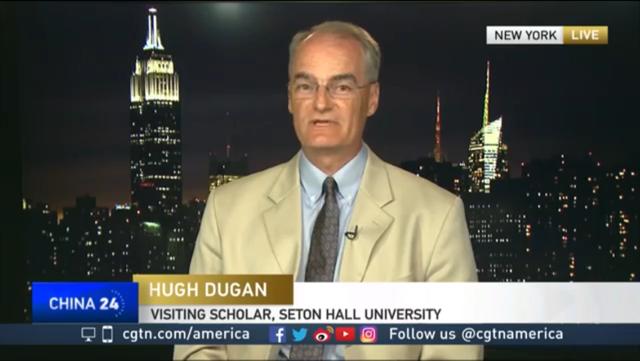 Professor Hugh Dugan on the CGTN News
