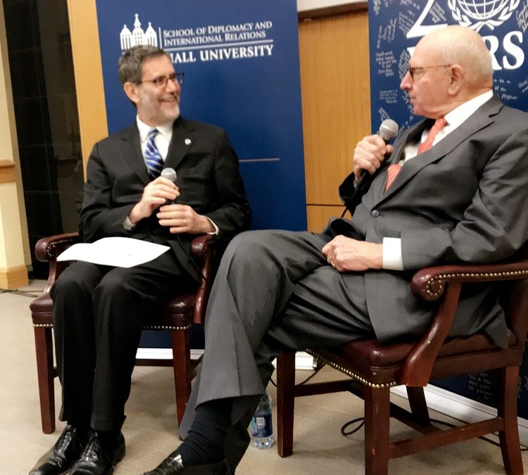 Ambassador Thomas Pickering visits Seton Hall University