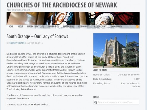 Churches of the Archdiocese of Newark