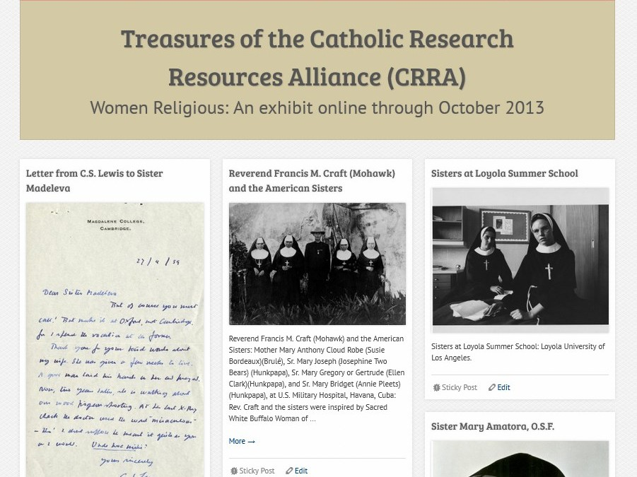 Treasures of the Catholic Research Resources Alliance