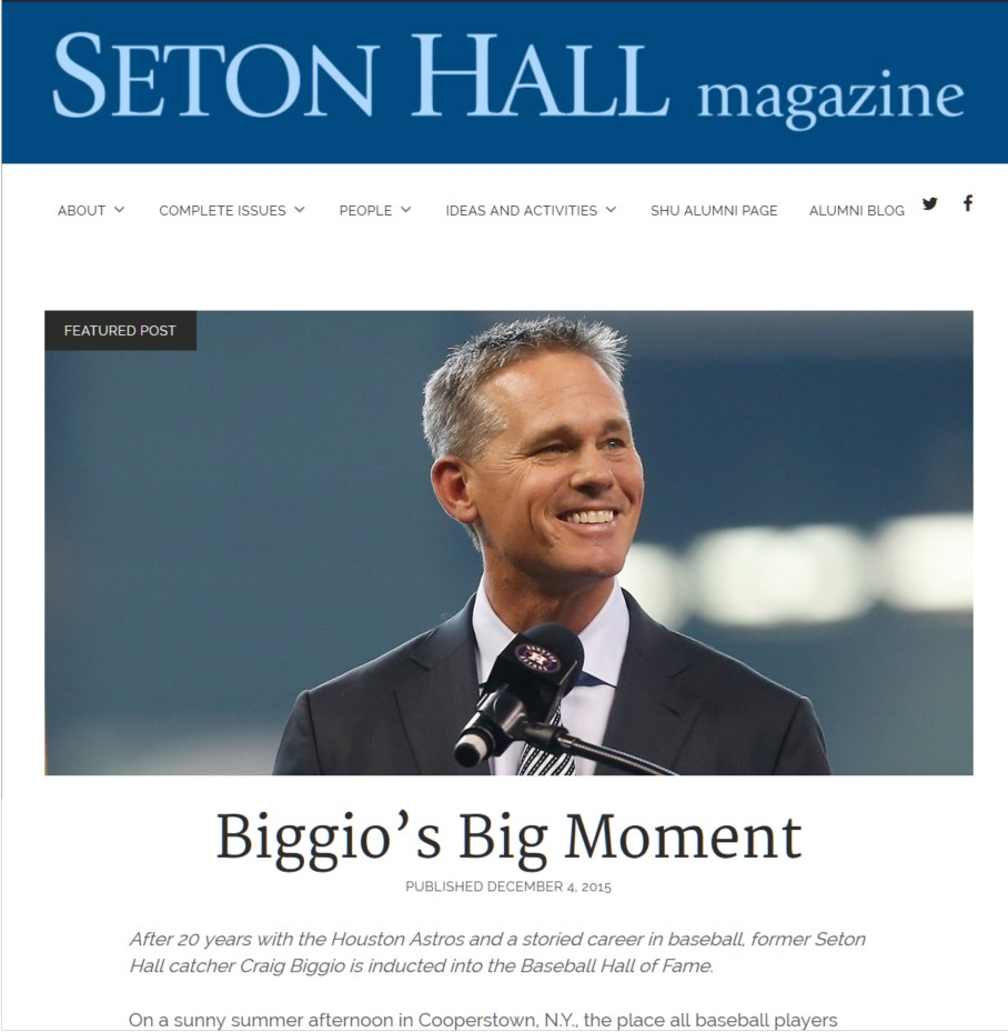 front page of magazine blog.